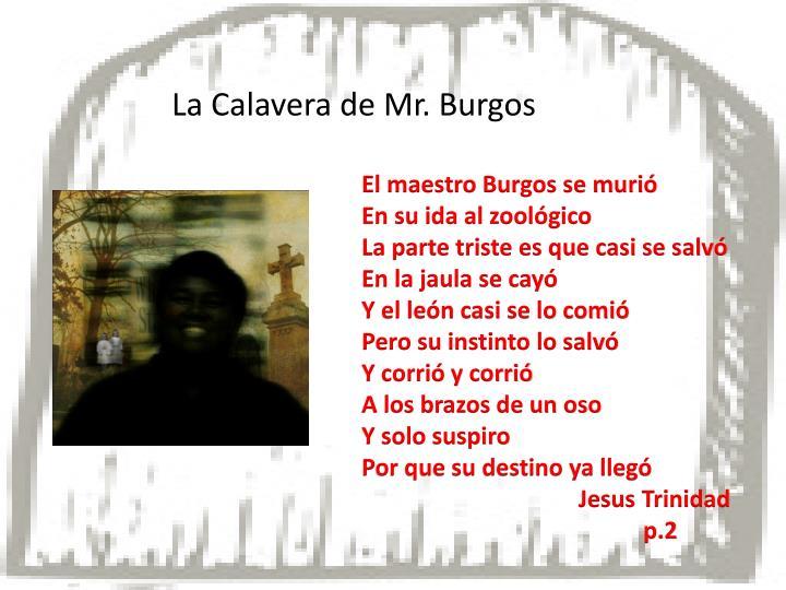 La Calavera de Mr. Burgos