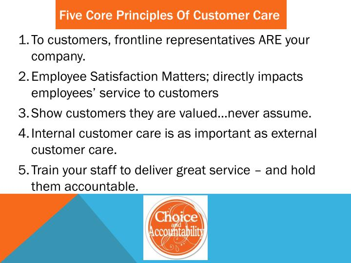 Five Core Principles Of Customer Care