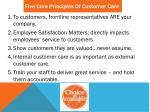 five core principles of customer care