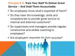 principle 5 train your staff to deliver great service and hold them accountable