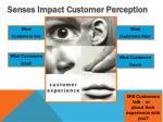 senses impact customer perception