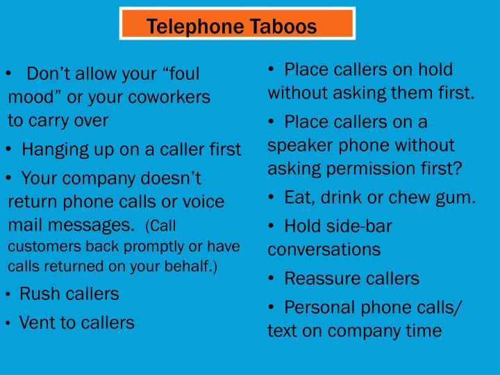 Telephone Taboos