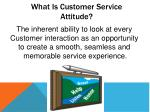 what is customer service attitude