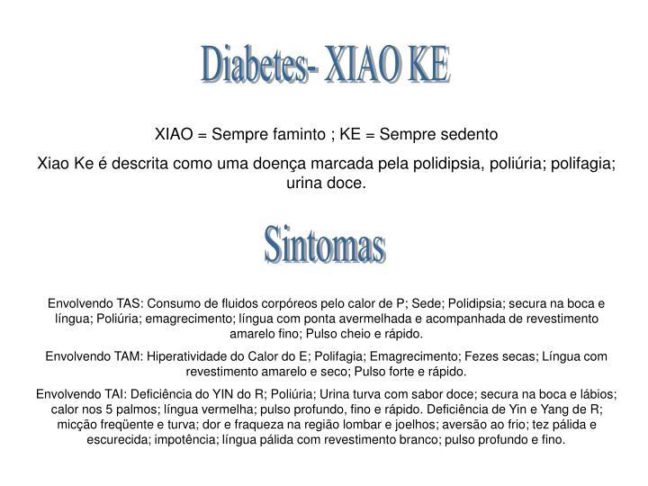 Diabetes- XIAO KE