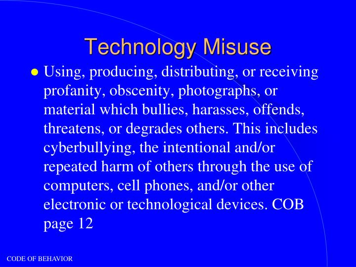 Technology Misuse
