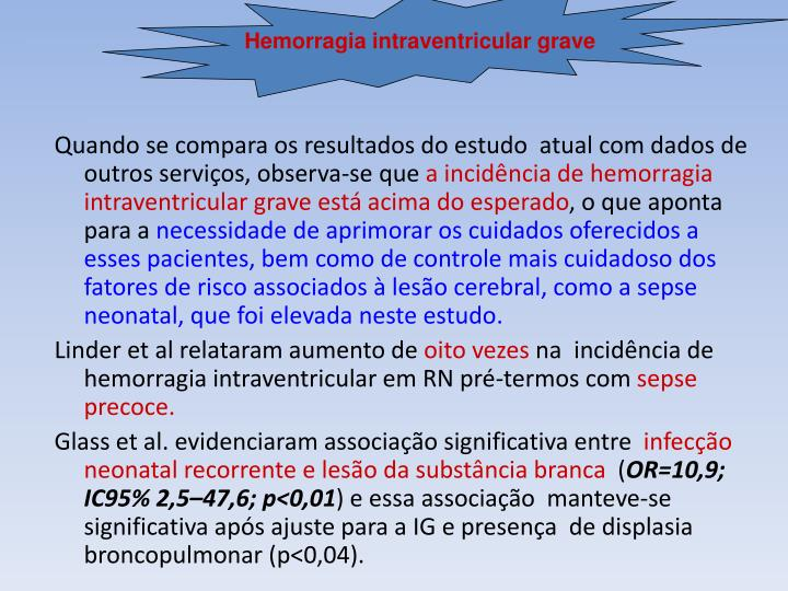 Hemorragia intraventricular grave