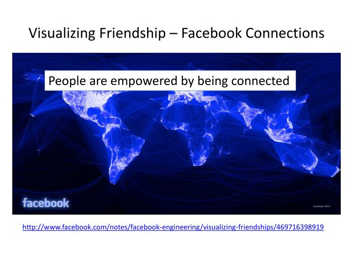 Visualizing friendship facebook connections