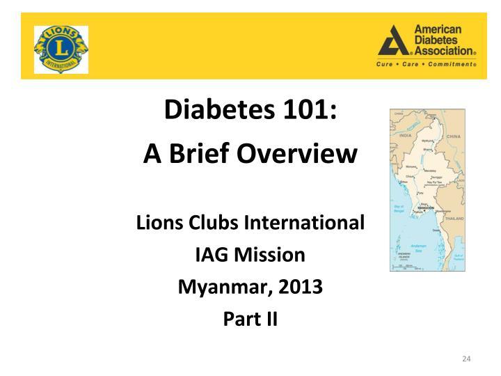 Diabetes 101: