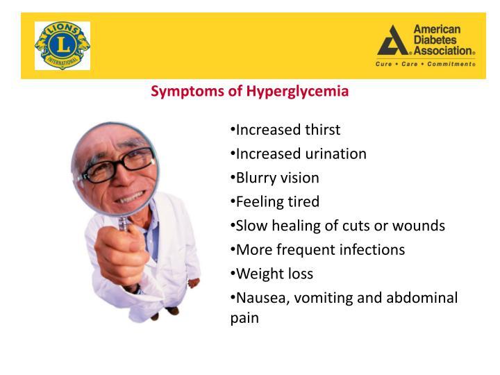 Symptoms of Hyperglycemia