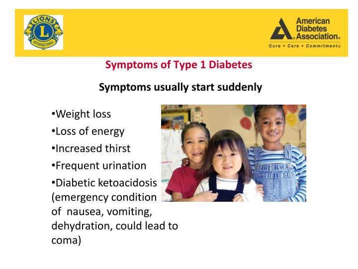 Symptoms of Type 1 Diabetes
