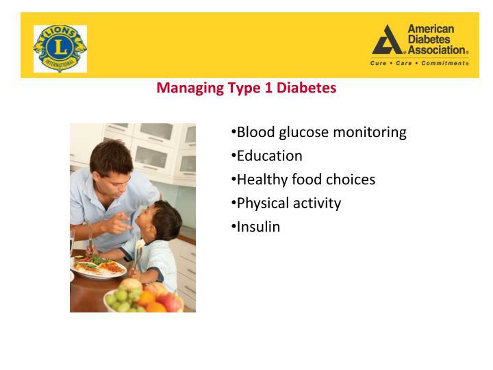 Managing Type 1 Diabetes