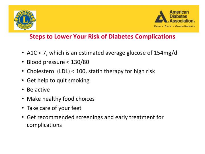 Steps to Lower Your Risk of Diabetes Complications