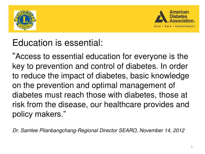 Education is essential: