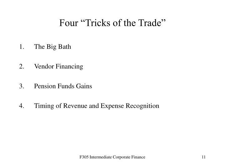 """Four """"Tricks of the Trade"""""""