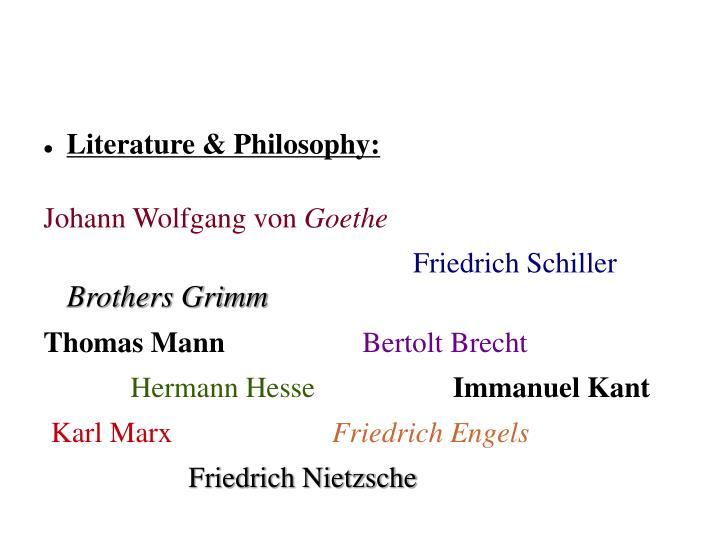 Literature & Philosophy: