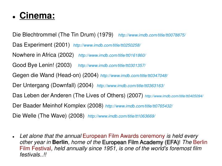 Cinema: