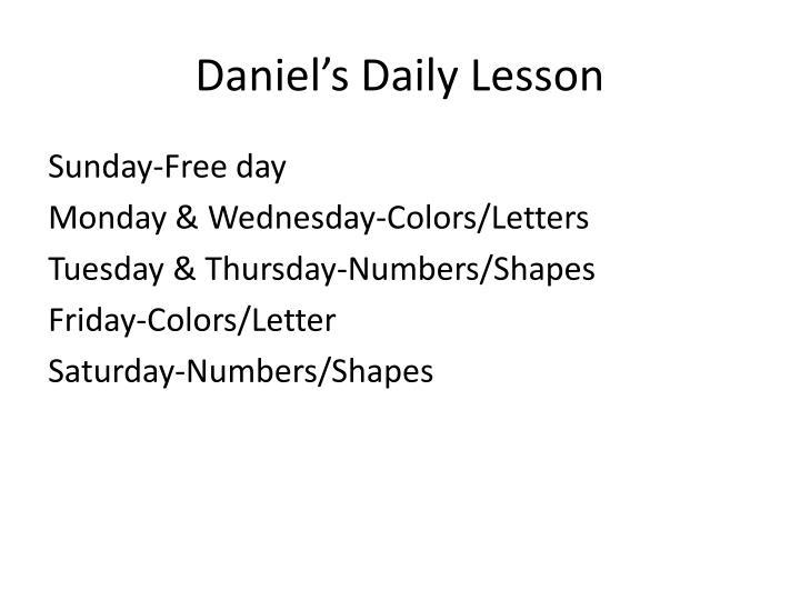 Daniel's Daily Lesson