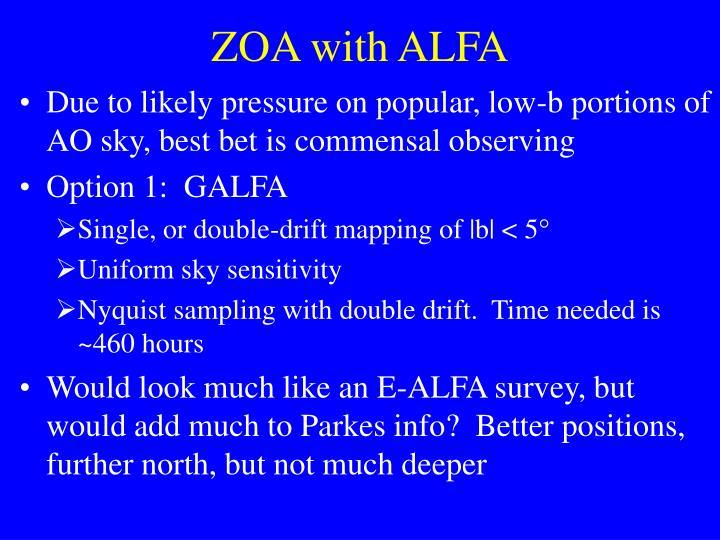 ZOA with ALFA