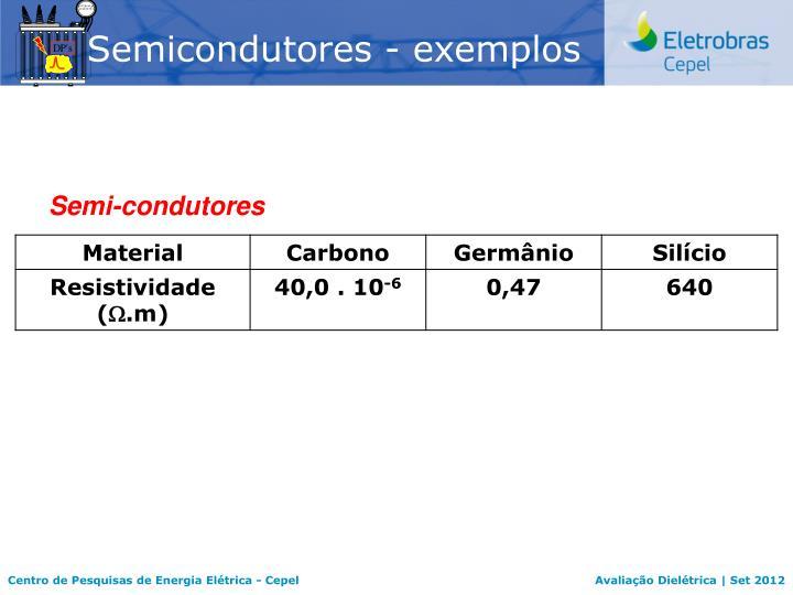 Semicondutores - exemplos
