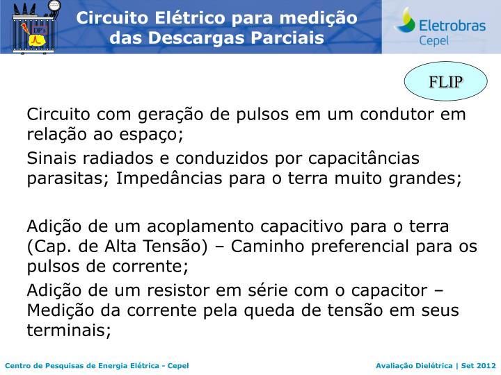 Circuito Elétrico para medição das Descargas Parciais
