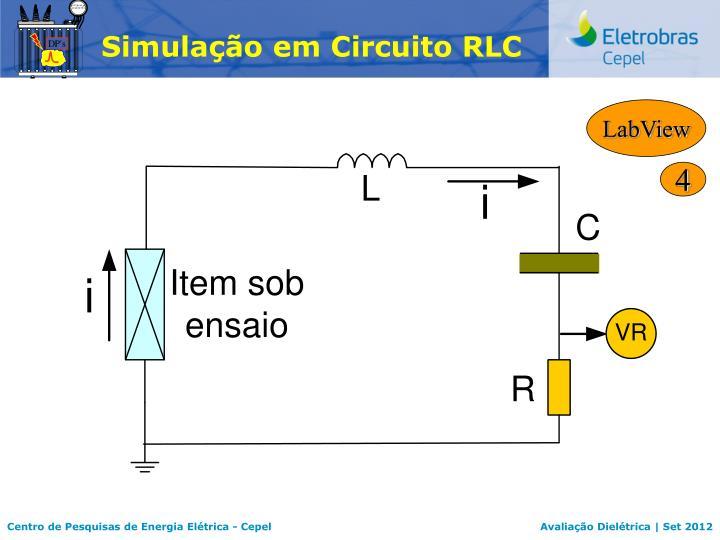 Simulação em Circuito RLC