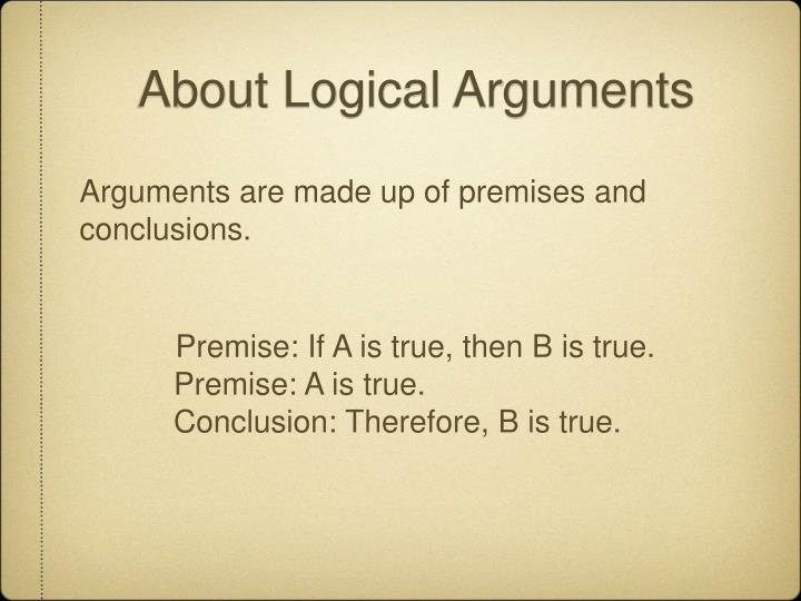 About Logical Arguments