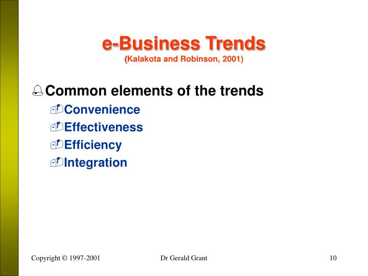 e-Business Trends