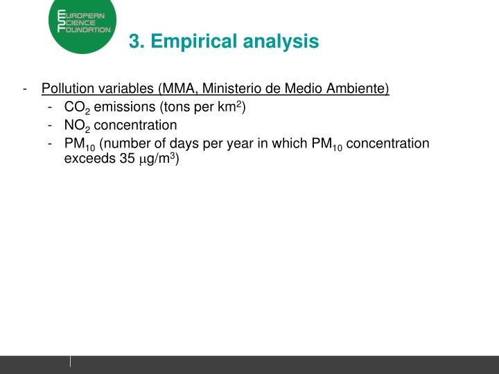 3. Empirical analysis