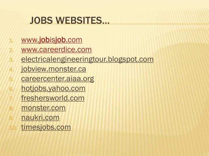 JOBS WEBSITES…