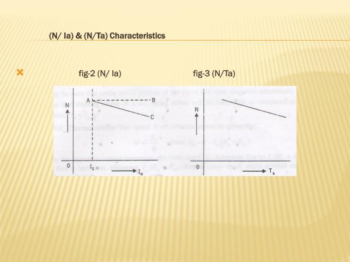 (N/ Ia) & (N/Ta) Characteristics