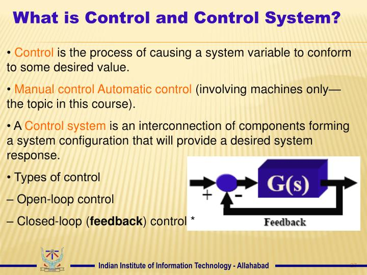 What is Control and Control System?
