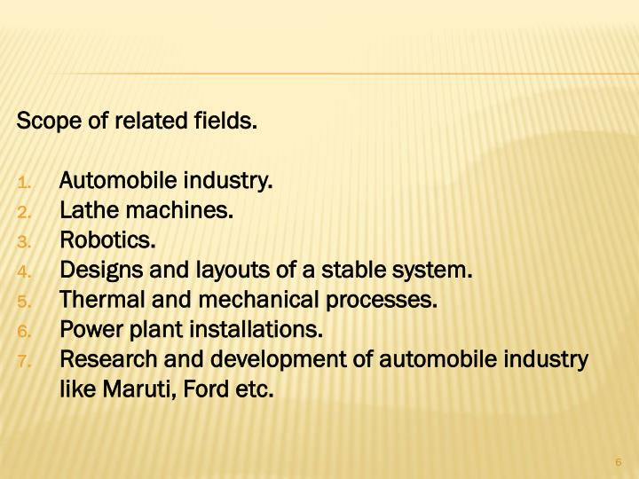 Scope of related fields.