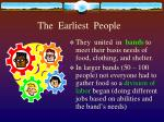 the earliest people1