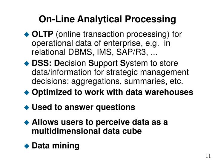 On-Line Analytical Processing