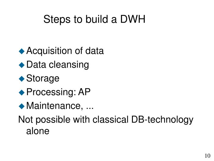 Steps to build a DWH