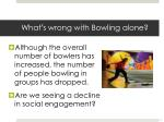 what s wrong with bowling alone