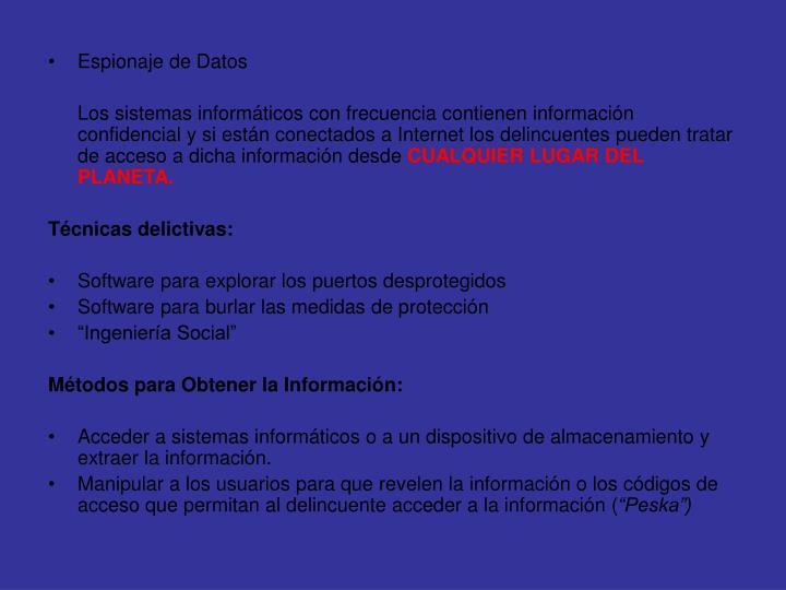 Espionaje de Datos