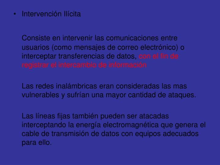 Intervención Ilícita