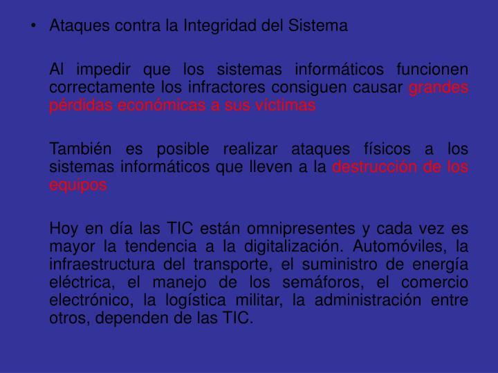 Ataques contra la Integridad del Sistema