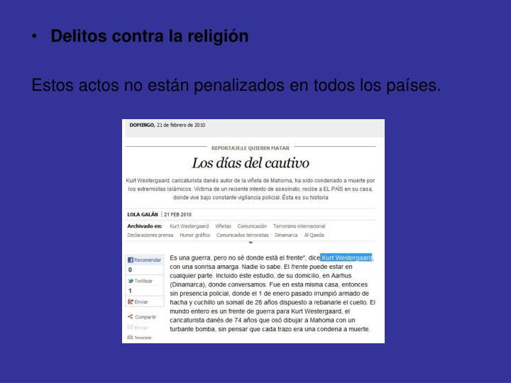 Delitos contra la religión
