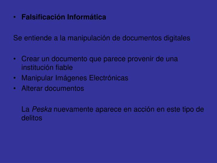 Falsificación Informática