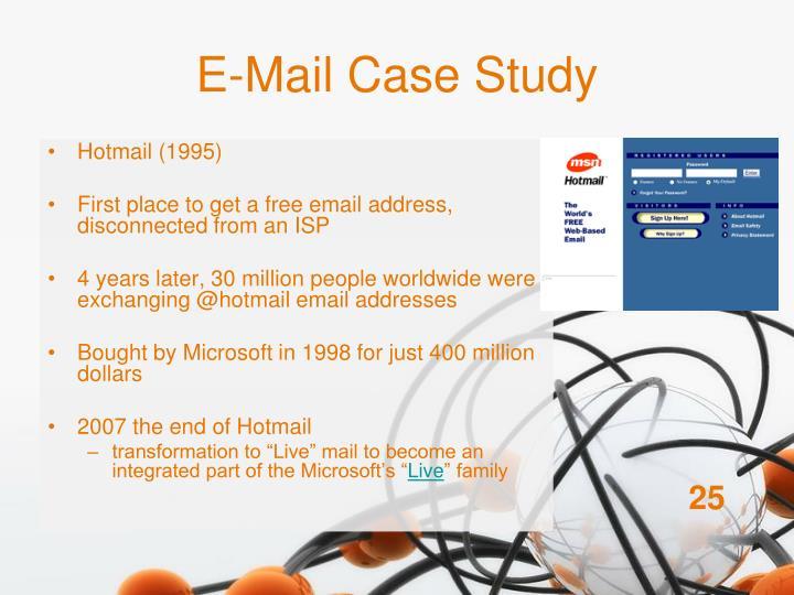 E-Mail Case Study