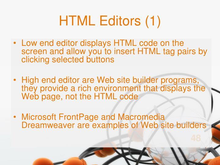 HTML Editors (1)