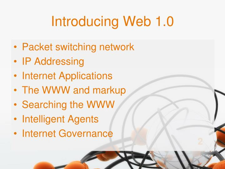 Introducing web 1 0