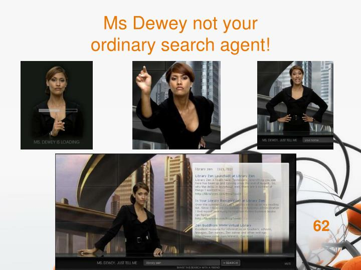 Ms Dewey not your