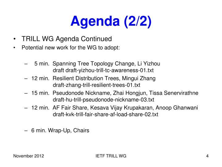 Agenda (2/2)