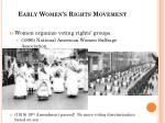 early women s rights movement1