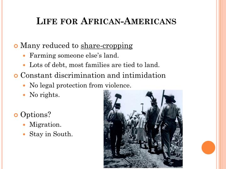 Life for African-Americans