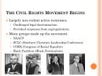 the civil rights movement begins1