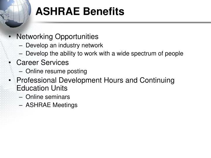 ASHRAE Benefits